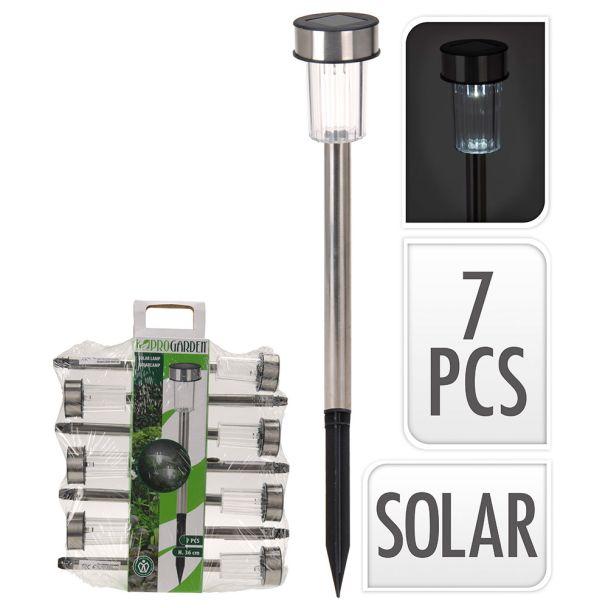 7 Solarlampen im Set