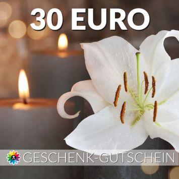Geschenk-Gutschein, Wert 30 Euro Kerze