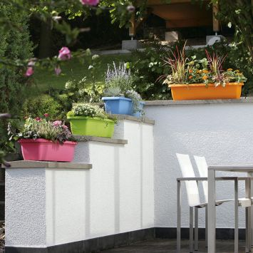 Designer Blumenkasten 'Aqua Andalucia', hellblau