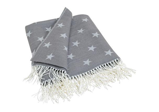 Tagesdecke mit Sternen, grau, 130 x 150 cm
