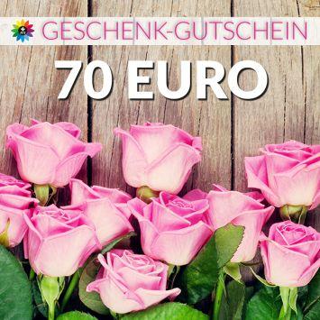 Geschenk-Gutschein, Wert 70 Euro Rosen