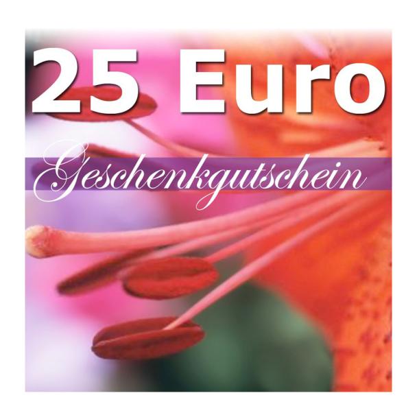 Geschenk-Gutschein, Wert 25 Euro Flower Power