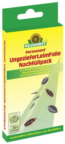 Neudorff Permanent® Ungeziefer Leimfalle Nachfüllpack 4 Stück (1 Stück / € 1,12)