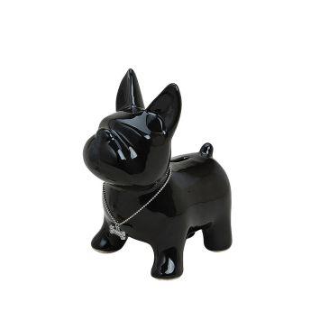 Spardose 'Hund' Keramik, 15 x 10 x 17, schwarz