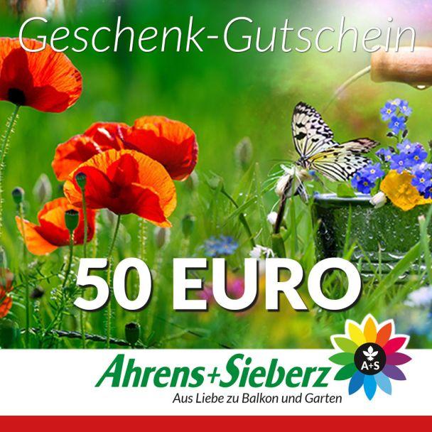 Geschenk-Gutschein, Wert 50 Euro Sommerfreude