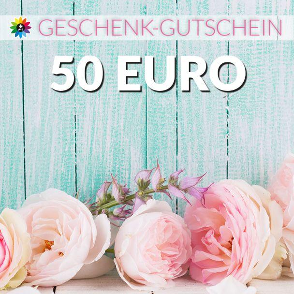 Geschenk-Gutschein, Wert 50 Euro Pfingstrosen