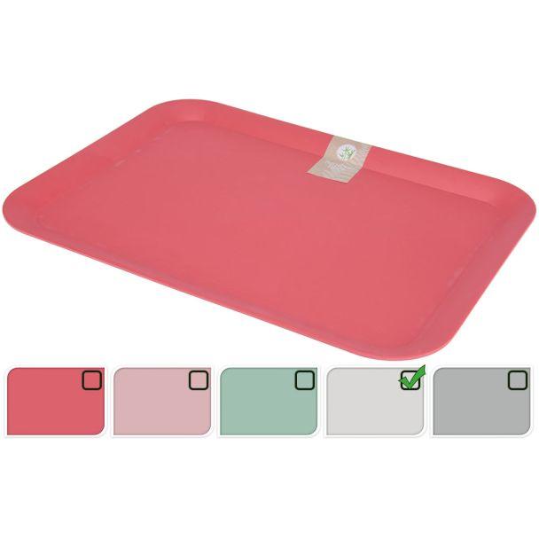 Tablett 43x32 cm Grau