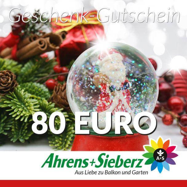 Geschenk-Gutschein, Wert 80 Euro Weihnachtskugel