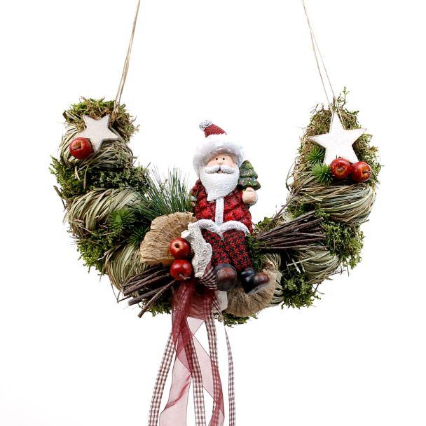 Türkranz Weihnachtsmann Bogen - NaturProdukt