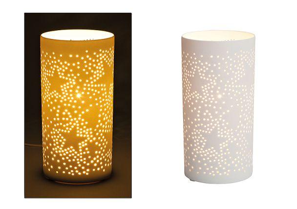 Tischlampe 'Stern' aus Porzellan, 20 x 10 cm