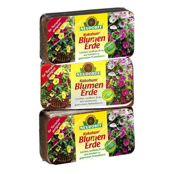 Kokohum® Blumenerde, 3 Briketts