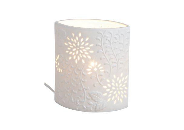 Tischlampe 'Oval' aus Porzellan, 18 x 10 x 20 cm