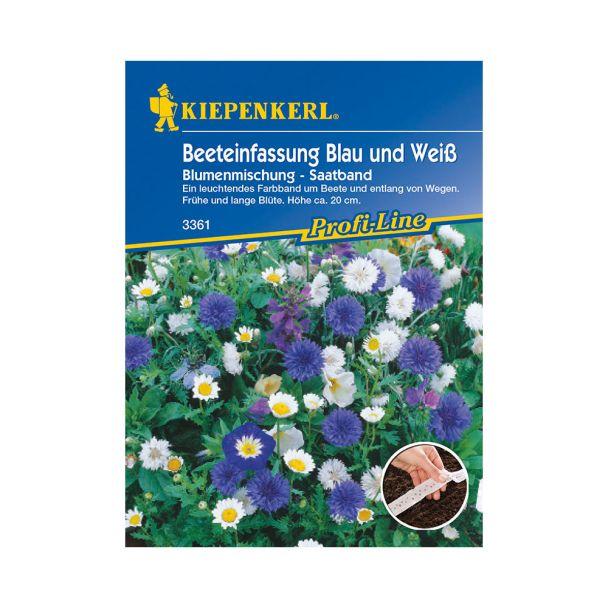 Beeteinfassung Blau und Weiß Blumenmischung (Saatband)