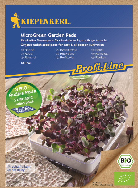 ProfiLine Bio Radieschen Nachfüllpads für MicroGreen Garden