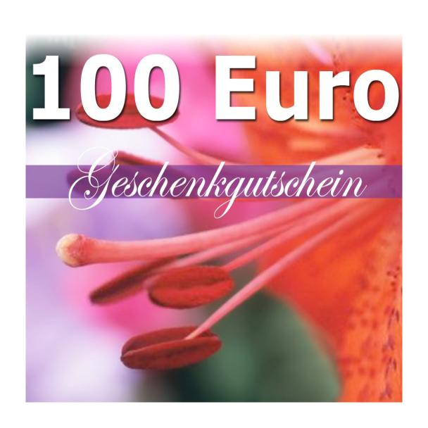 Geschenk-Gutschein, Wert 100 Euro Flower Power