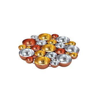 Schale/Windlicht Metall,Gold, Bronze, 40 cm