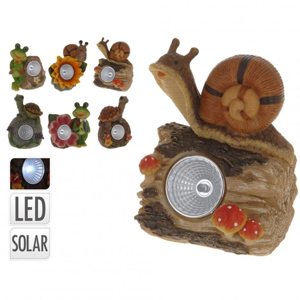 Solarlampe 'Frosch mit roter Blüte'