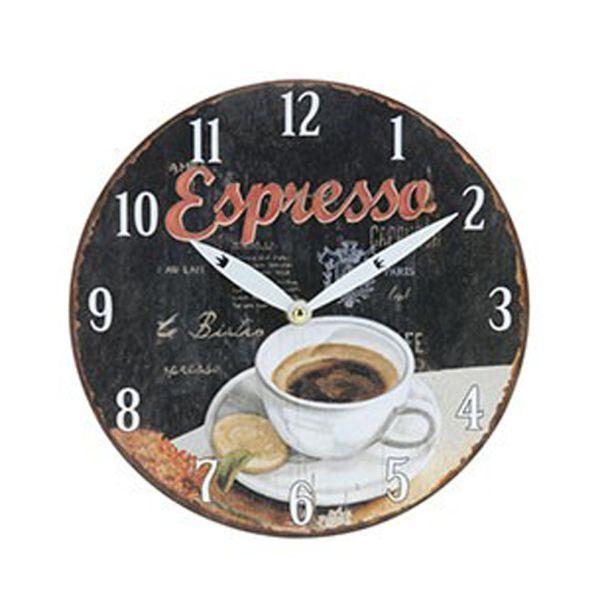 Wanduhr Kaffeedesign 'Espresso', 23,5 cm