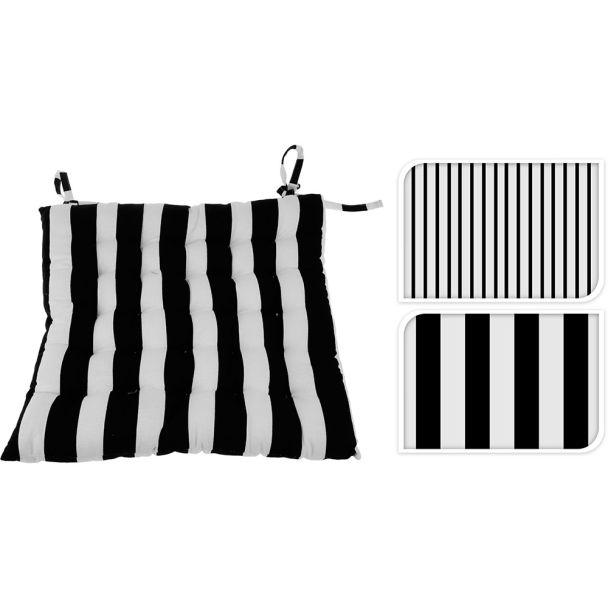 Stuhlkissen, 40 x 40 x 4 cm, Streifen (dünne Streifen)