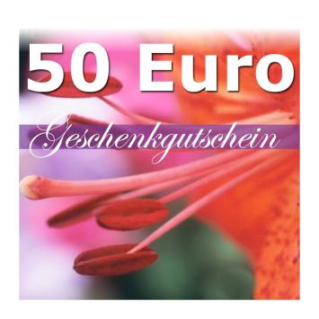 Geschenk-Gutschein, Wert 50 Euro Flower Power