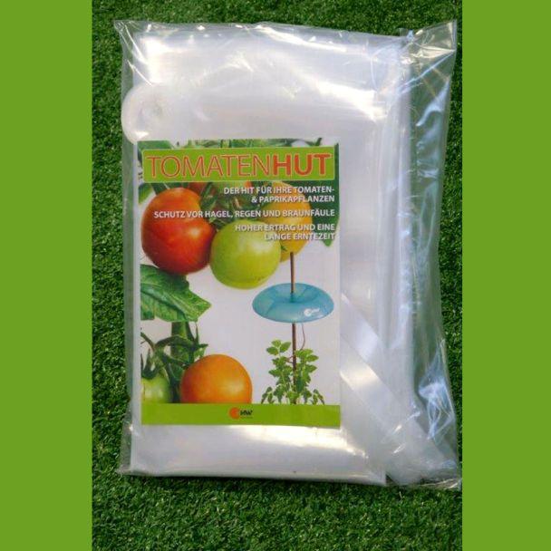 Erweiterungs-Set Tomatenhut: 3 x Schutzfolie 150 x 120 cm inkl. 3 x 10 Folienhalter