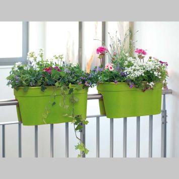 Flowerclip XL, 2er Set, grün