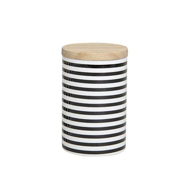Vorratsdose mit Streifen, 15 x 9 cm