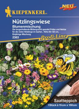 Blumenmix Nützlingswiese Saatteppich